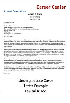 link to ugrad cover letter example capitol