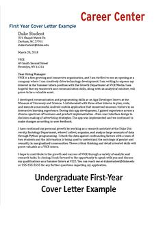 See More Cover Letter Examples