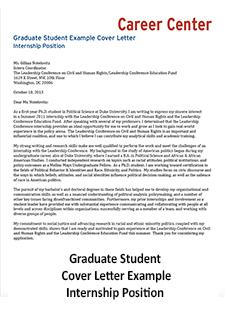 Cover Letter | Student Affairs