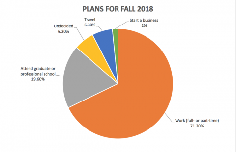 chart for fall plans for class of 2018.