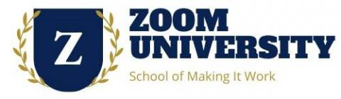 Zoom University. School of Making It Work.