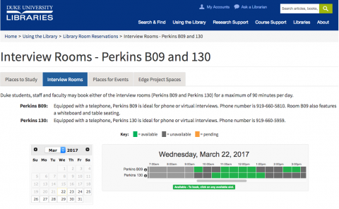 screenshot of perkins web page