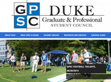 Graduate and Professional Student Council website screenshot