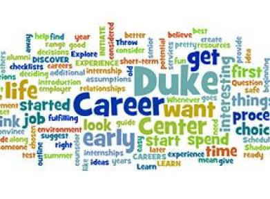 Wordle with career-focused words