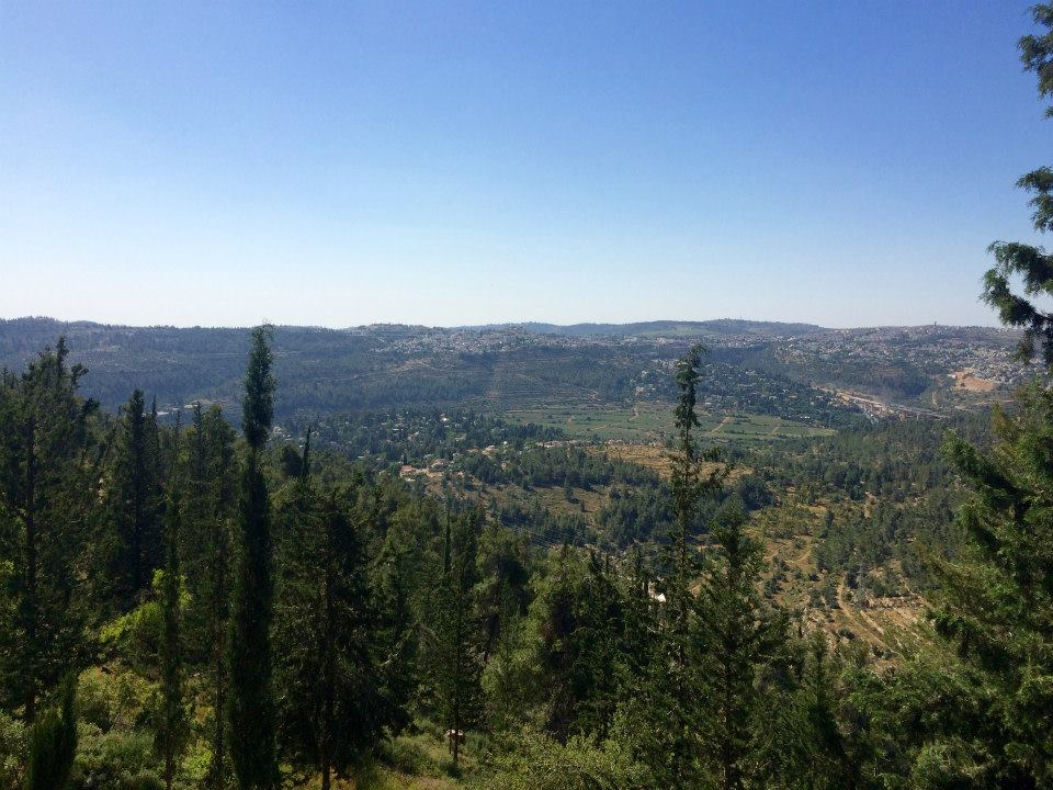 View after Yad Vashem