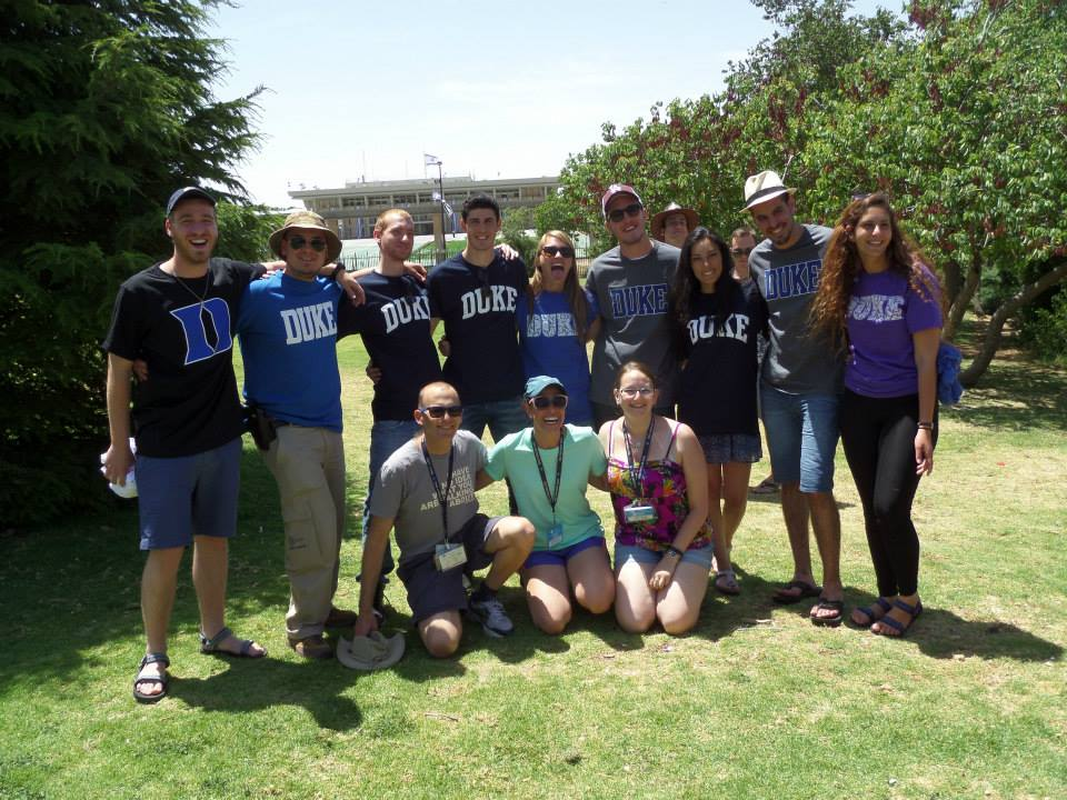 Israelis in Duke gear